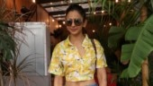 Rakul Preet in crop top and mini shorts on lunch date is all about bananas. See pics