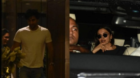 Ranbir Kapoor and Deepika Padukone spotted at Luv Ranjan's house.