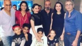 Sanjay Dutt celebrates 60th birthday bash with wife Maanayata, kids and sisters. See all pics