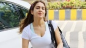 Sara Ali Khan in white crop top and yoga pants leaves Mumbai speechless. See pics