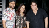 Riteish Deshmukh and Genelia D'Souza party with Sajid Khan. See pics