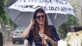 Leggy lass Kriti Sanon enjoys Mumbai monsoon in cute jumpsuit. See pics