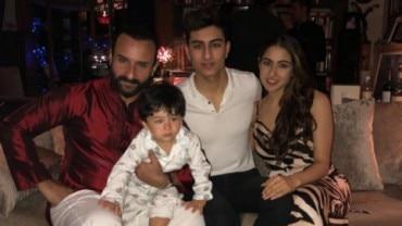 Saif Ali Khan with his kids.