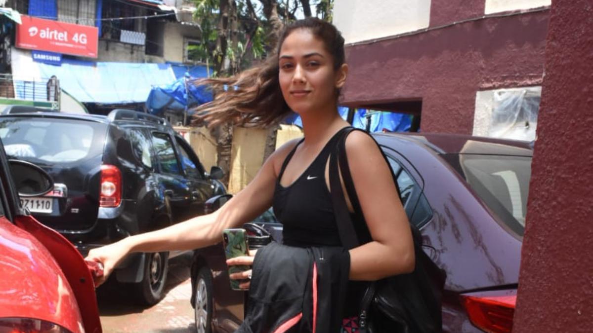 Mira Rajput outside her gym Photo: Yogen Shah