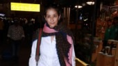 Manisha Koirala in simple shirt and pants shows how to rock formal look at airport