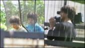 Shah Rukh Khan turns cameraman for son AbRam at Janmashtami celebrations. See pics