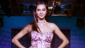 Shibani Dandekar makes heads turn in pink lehenga at Lakme Fashion Week 2019