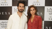 Shahid Kapoor and Mira Rajput at Lakme Fashion Week 2019 Photo: Yogen Shah
