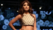 Shilpa Shetty is drop-dead gorgeous in golden lehenga on the ramp at Lakme Fashion Week 2019