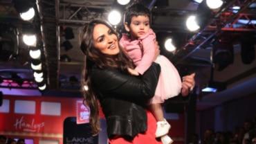 Esha Deol with Radhya Takhtani at Lakme Fashion Week