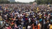 Protest at Ramlila Maidan by Dalits against demolition of Ravidas temple: Photos