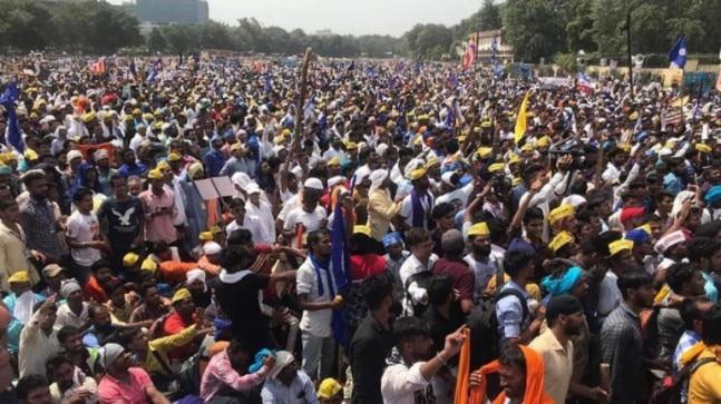 Protest at Ram Leela Maidan by Dalits against demolition of Ravidas temple