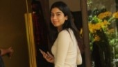 Khushi Kapoor in nude bodycon mini dress on day out will take your breath away. See pics