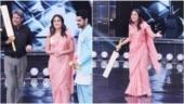 Dance India Dance: Kareena Kapoor plays cricket with Kapil Dev, gets bat autographed for Taimur