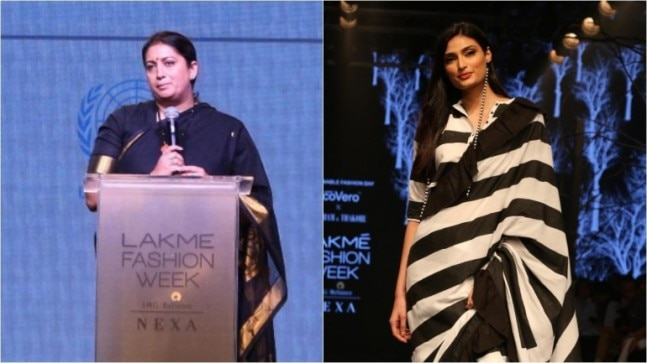 Smriti Irani to Athiya Shetty, stars who were present on Lakme Fashion Week 2019 Day 2 Photo: Yogen Shah