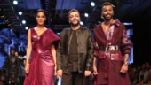 Pregnant Lisa Haydon steals the show in elegant saree with Hardik Pandya at Lakme Fashion Week 2019