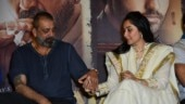 Sanjay Dutt and Maanayata go high on PDA at Prasthanam trailer launch in Delhi. See pics