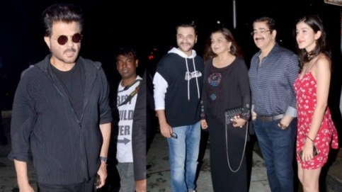 Anil Kapoor attended Reena Marwah's birthday dinner with his family.