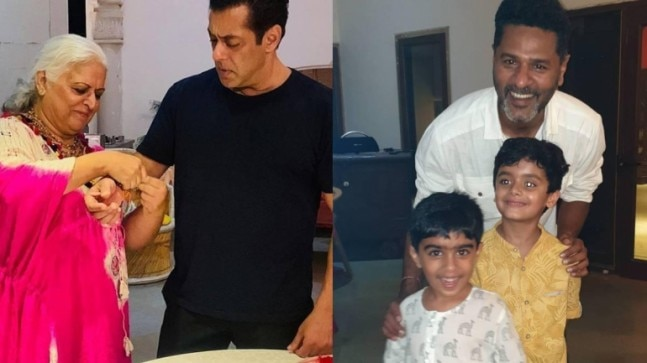 Salman Khan and Prabhudheva celebrated Raksha Bandhan with Bina Kak in Jaipur