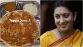 Smriti Irani's Mumbai trip is all about food. See what she ate, full menu and a disclaimer