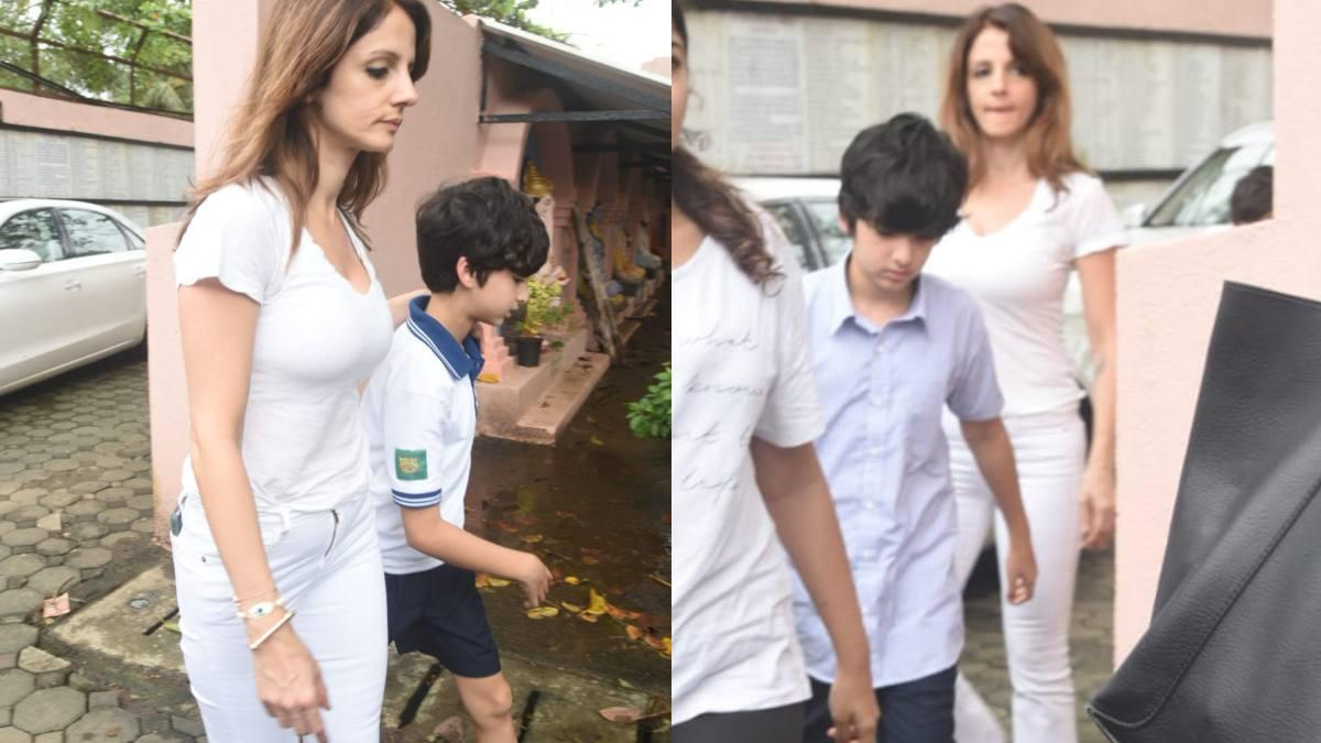 Sussanne Khan and sons paid her last respects to Hrithik Roshan's grandfather J Om Prakash