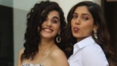 Taapsee Pannu and Bhumi Pednekar are giving us BFF goals at Sand Ki Aankh promotions