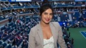 Priyanka Chopra in Rs 1 lakh lace top and thigh-slit skirt cheers for Serena Williams at US Open