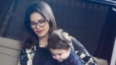 Sunny Leone is all about comfort in all-black look on day out with kids. See pics