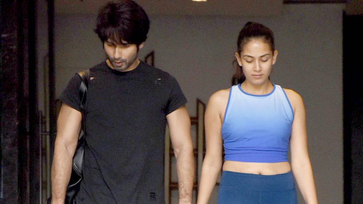 Shahid Kapoor and Mira Rajput at gym Photo: Yogen Shah