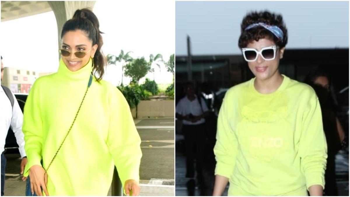 Deepika Padukone and Tahira Kashyap at airport Photo: Yogen Shah