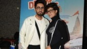 Ayushmann Khurrana attends film screening with his Dream Girl Tahira Kashyap. See pics