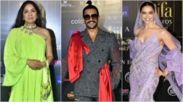 Neena Gupta, Ranveer Singh and Deepika Padukone at IIFA Photo: Yogen Shah