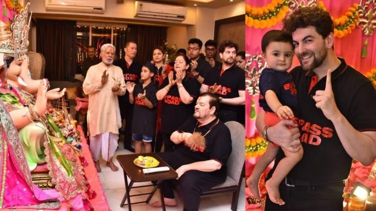 Ganpati celebration at Neil Nitin Mukesh's home