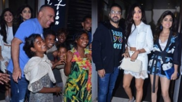 Shilpa Shetty and Raj Kundra threw a birthday party for Russell Peters.