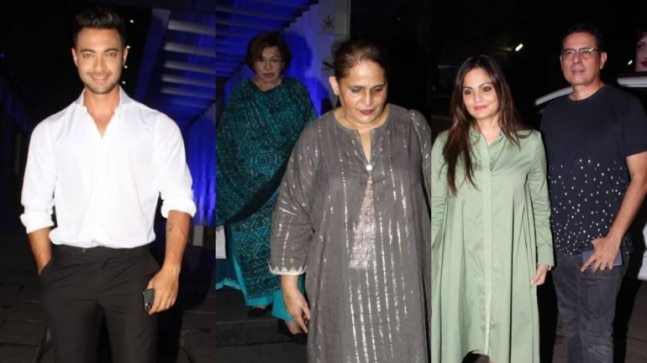 Aayush Sharma and Atul Agnihotri went on a dinner date with Helen and Salma Khan