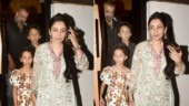 Sanjay Dutt steps out for dinner with wife Maanayata and kids Shahraan and Iqra. See pics