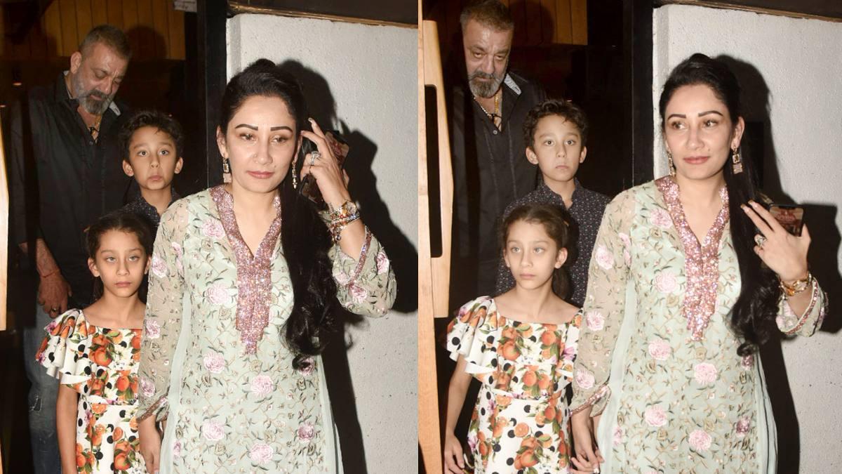 Sanjay Dutt was accompanied by wife Maanayata , son Shahraan and daughter Iqra.