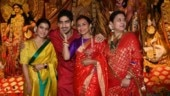 Cousins Rani Mukerji and Kajol come together for Durga Ashtami. See pics