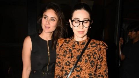 Kareena Kapoor and Karisma Kapoor on night out Photo: Yogen Shah