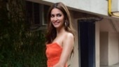 Kriti Kharbanda paints the town tangerine in mini dress at Pagalpanti song launch. See pics