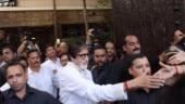Amitabh Bachchan greets a sea of fans on 77th birthday. See pics