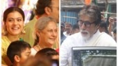 Jaya and Amitabh Bachchan step out for Durga Puja celebrations with Kajol. See pics