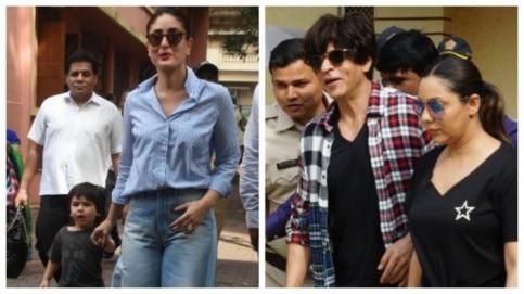 Kareena Kapoor Khan, Taimur Ali Khan, Shah Rukh Khan and Gauri Khan.