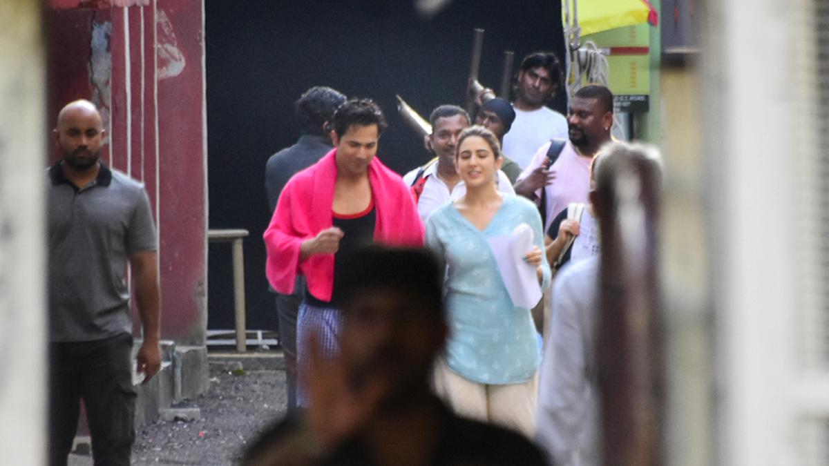 Varun Dhawan and Sara Ali Khan shoot for Coolie No 1
