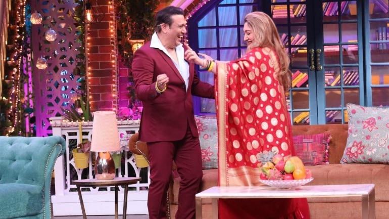 Govinda and Sunita on The Kapil Sharma Show