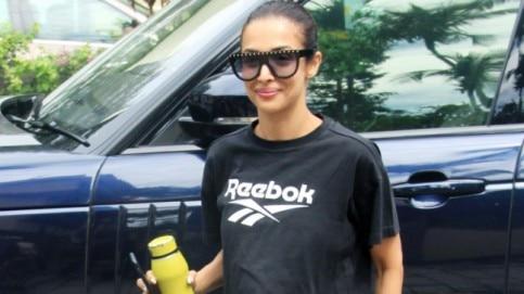 Malaika Arora at the gym Photo: Yogen Shah