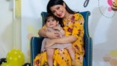Yash's wife Radhika Pandit gets bee-themed baby shower. Lil Ayra is the show stopper