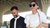 Sonam Kapoor and Anand Ahuja at airport Photo: Yogen Shah