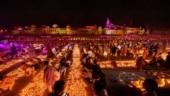 Ayodhya: Nearly 6 lakh diyas lit up Saryu banks on Diwali