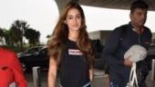 Disha Patani is comfortable in casual tee and denims at Mumbai airport. See pics